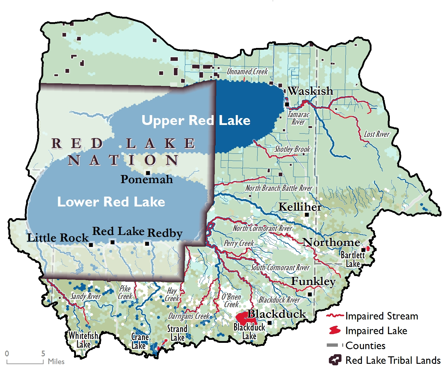 Upper/Lower Red Lake Watershed Impairments